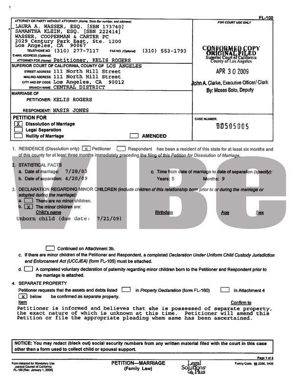 MissInfo.tv » Kelis and Nas: the Divorce Filing