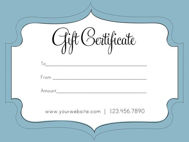Free Gift Certificate Template | peerpex