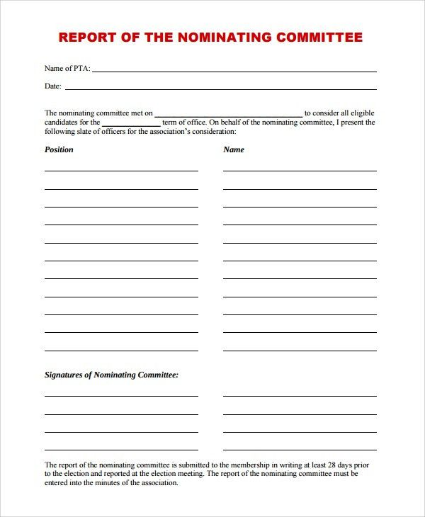 Nice Sample Committee Report Template   8+ Free Documents Download In .
