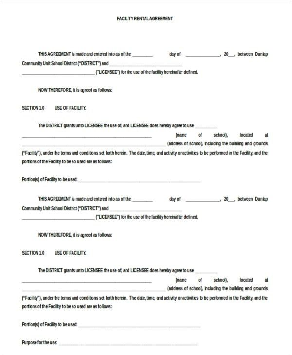 13+ Blank Rental Agreement Templates – Free Sample, Example Format ...