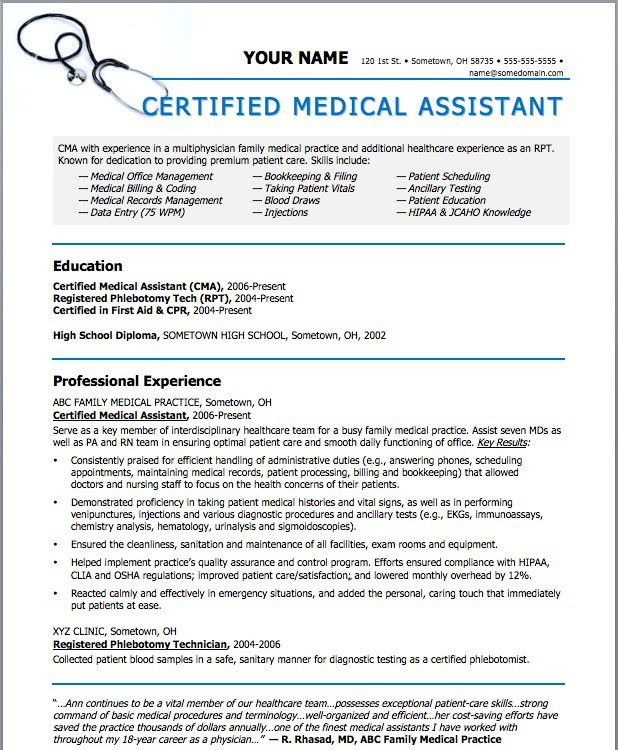 Get these New Medical Assistant Templates | Resume Templates