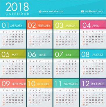 2018 calendar vector free vector download (1,489 Free vector) for ...