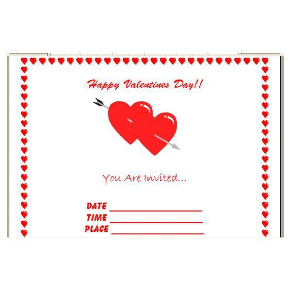 How to Make Your Own Valentine's Day Invitations in Microsoft Word ...