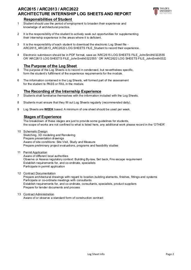 Internship Log Sheet and Report