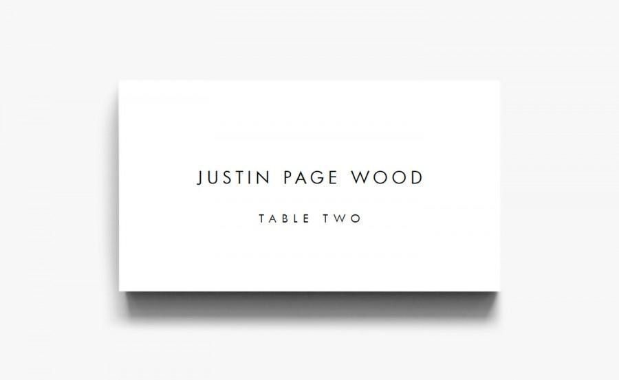 Name Card Template, Name Cards For Wedding, Table Cards, Place ...