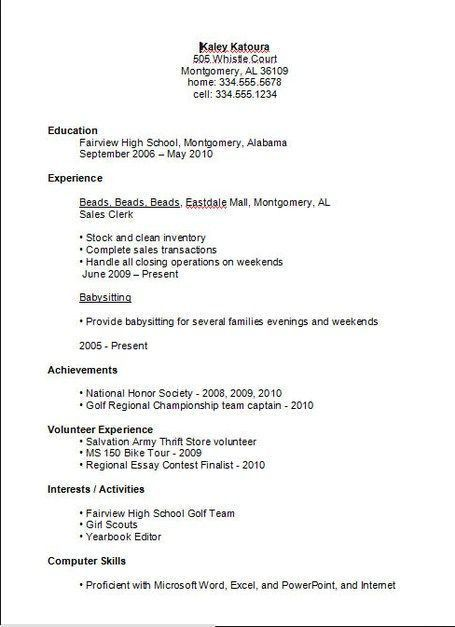 Top 25+ best Basic resume examples ideas on Pinterest | Resume ...