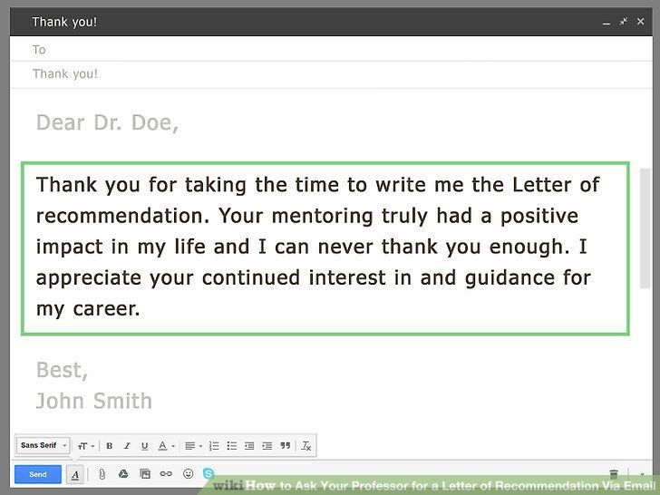 How to Ask Your Professor for a Letter of Recommendation Via Email ...