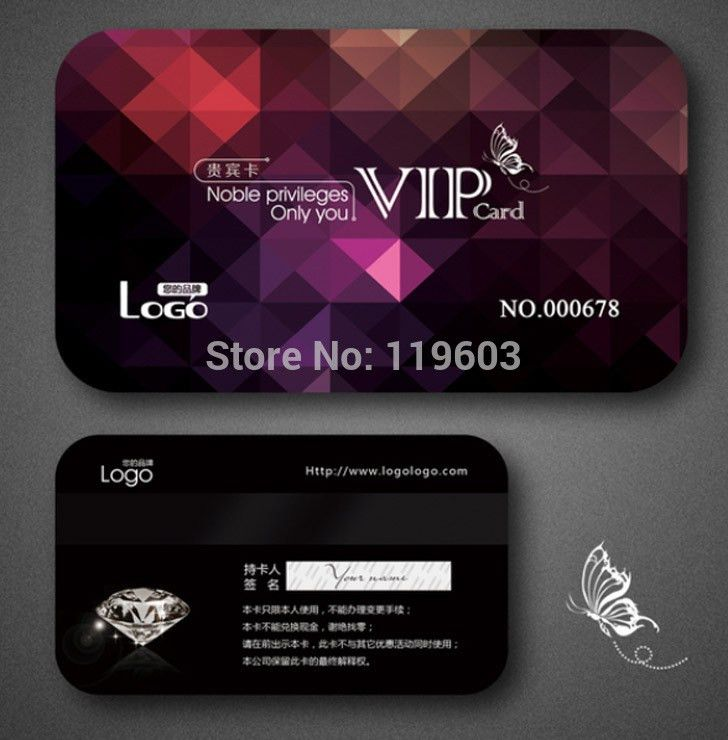 Hot sell!!!High quality of VIP membership card with qr code cr80 ...
