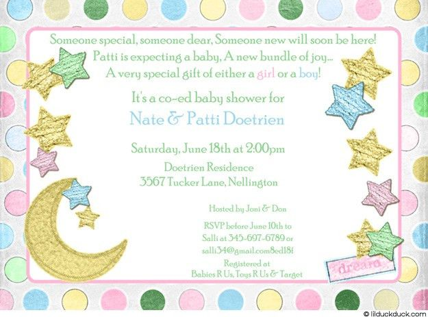 How To Word Baby Shower Invitations – gangcraft.net