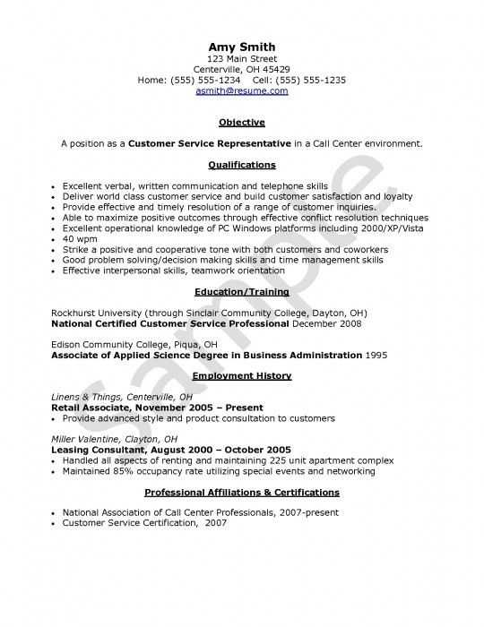 customer service representative resume company future call. 21 ...
