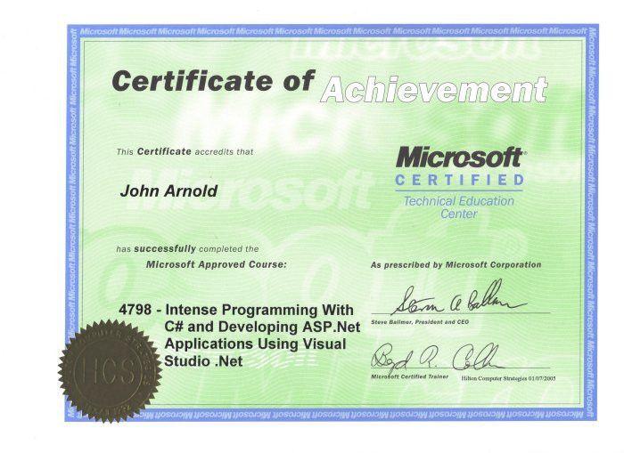 Microsoft Certificate Of Excellence [Nfgaccountability.com ]