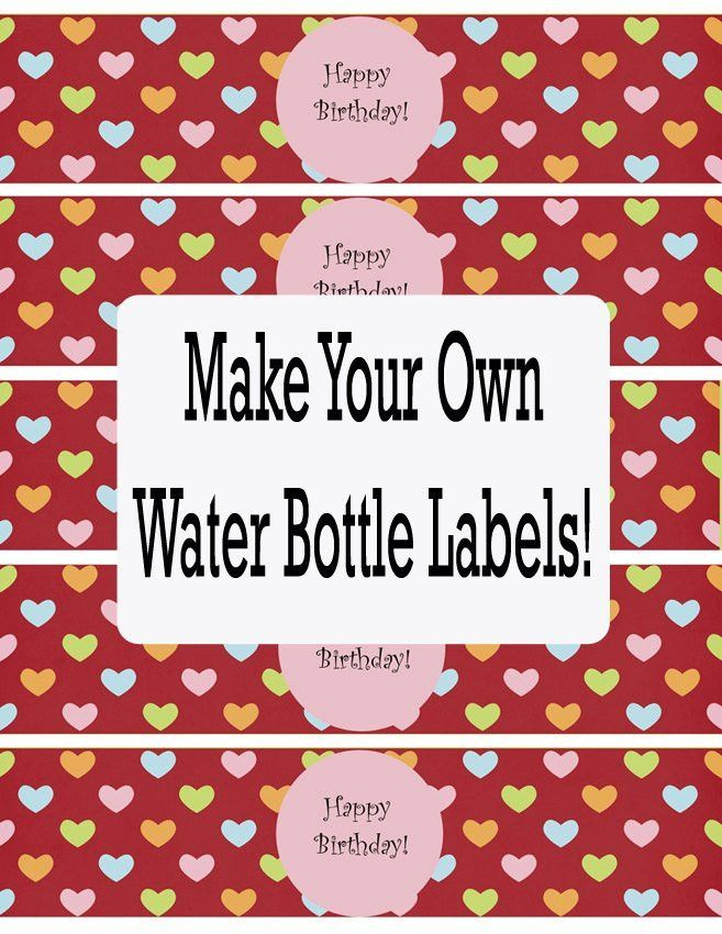 Printable Water Bottle Labels Free Templates | Template Design