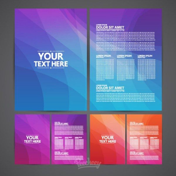 Brochures template Free vector in Adobe Illustrator ai ( .ai ...