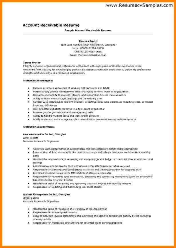 Download Accounts Receivable Resume | Haadyaooverbayresort.com