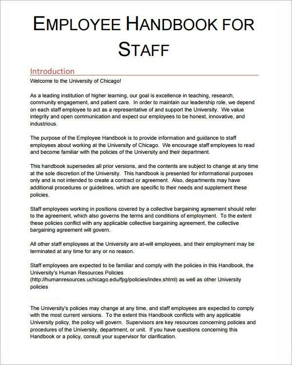 employees manual template - thebridgesummit.co