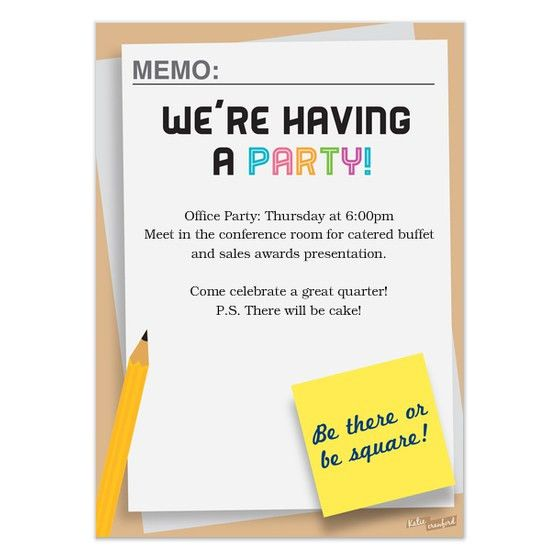 Fine Office Party Invitation Email Templates 6 For Inexpensive ...