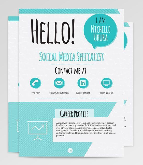 12 best CV images on Pinterest | Resume templates, Resume design ...