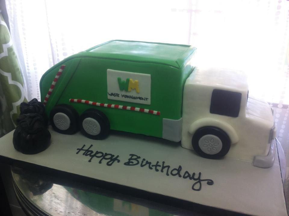 Trash Truck Birthday Cake
