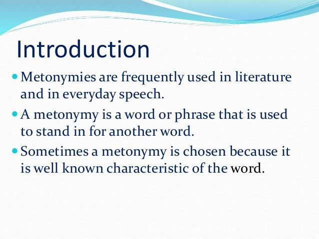 Metonymy in Stylistics