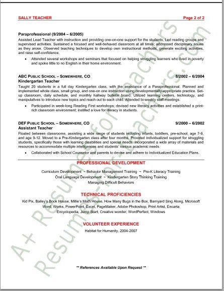 Preschool Teacher Resume. 9+ Preschool Teacher Resumes Preschool ...