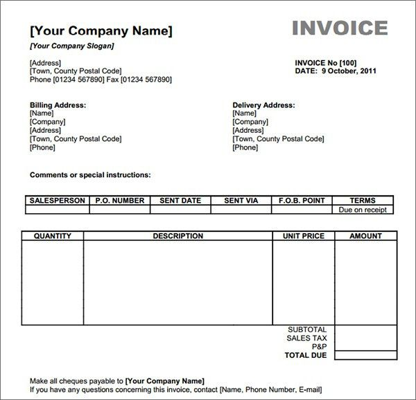 Free Invoice Template Download Uk | invoice example