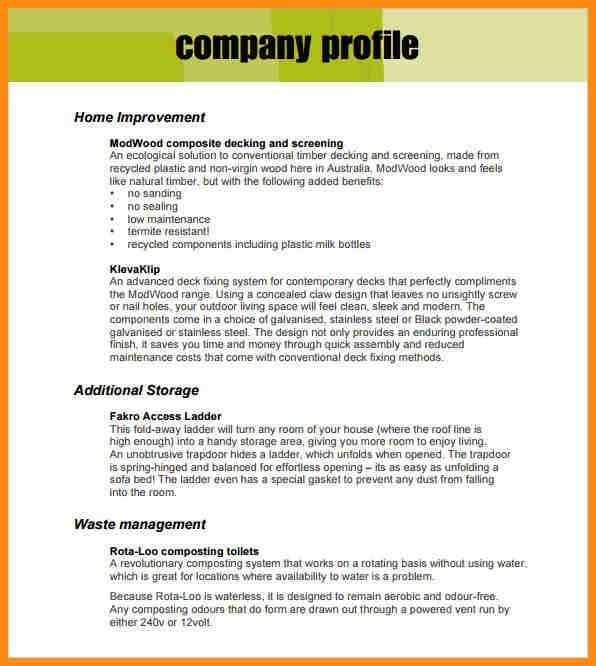 6+ business profile template pdf | musicre sumed
