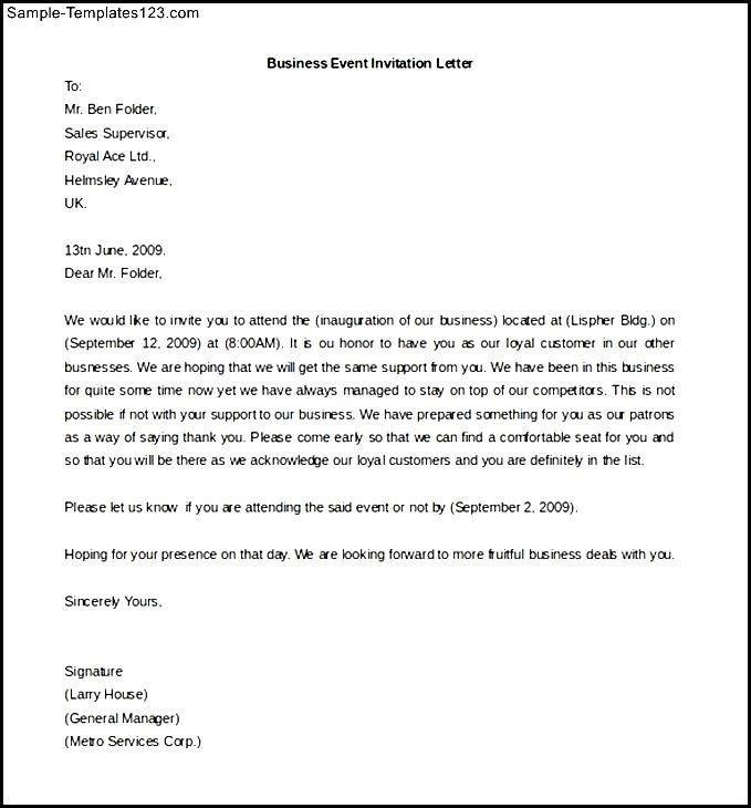 Sample Business Event Invitation Email - Wedding Invitation Sample