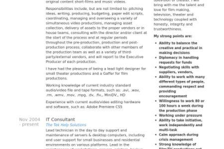 broadcast traffic manager sample resume