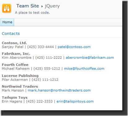 Using jQuery Templates with SharePoint List Data – SharePoint dev blog