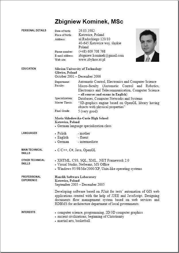 English CV