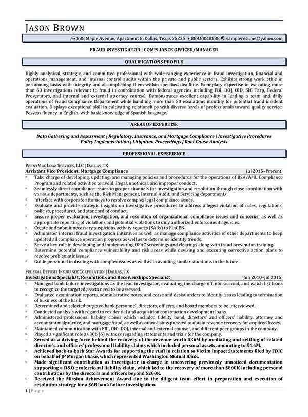 Legal Resume Examples - Resume Professional Writers