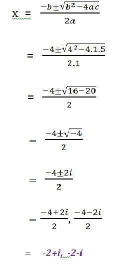 Quadratic equations with complex roots