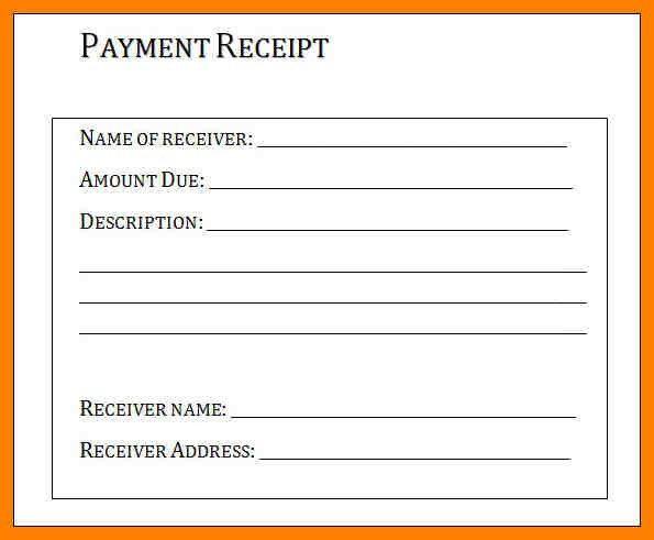7+ basic receipt template | addressing letter