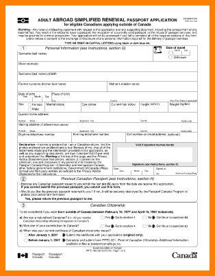 3+ canadian passport application form   barber resume
