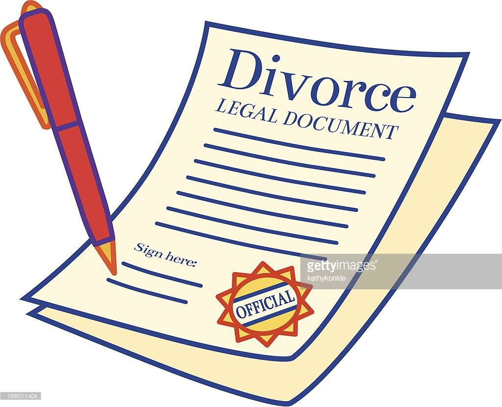 Divorce Papers Vector Art | Getty Images