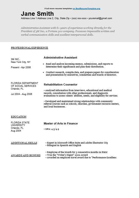 Creative Resume Titles. what should be the title of resume 6545 ...