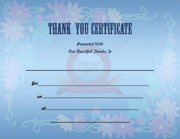 Thank You Certificate Template | THANK YOU CERTIFICATE TEMPLATES ...