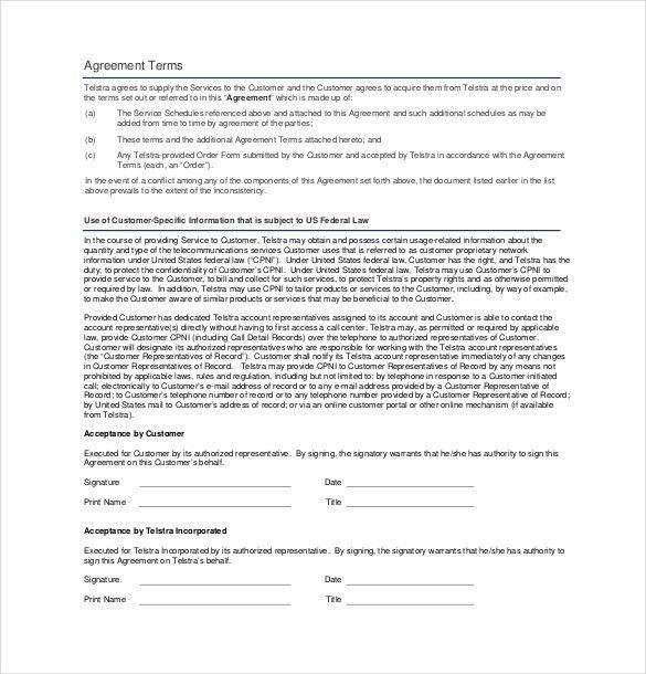 Business Service Agreement Template. Novation Agreement Template ...