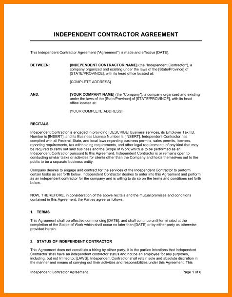 7+ independent contractor agreement form | barber resume