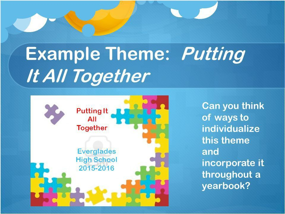 Developing a Yearbook's Theme - ppt video online download