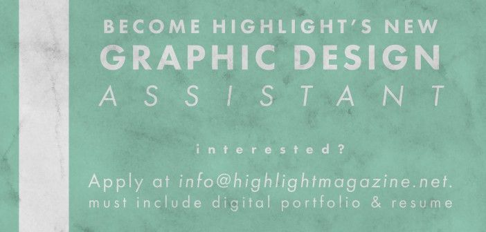 Hiring A Graphic Design Assistant!
