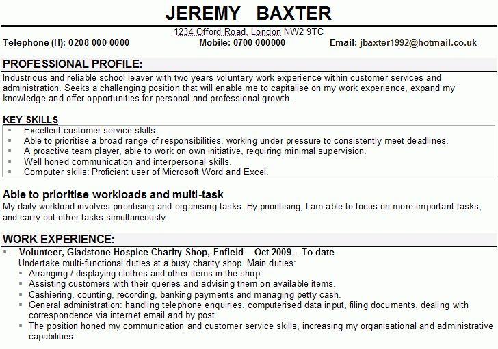 3 CV Example Student