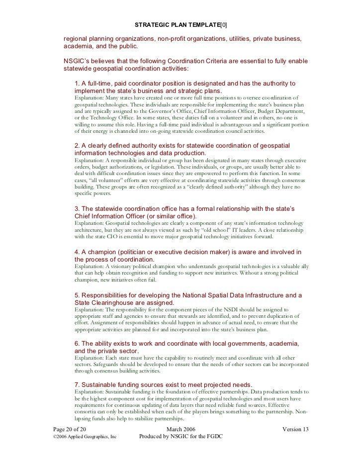 Strategic Plan Format Template Sample Strategic Plan Templates - Business plan template non profit organization