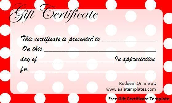 Free Gift Certificate Template Download Page | Word Excel PDF