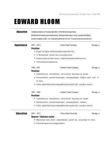 basic job resume template simple resume template stylist and ...