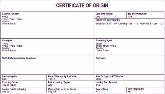 6+ Certificate of Origin Templates - Word Excel PDF Templates