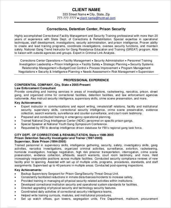 Security Guard Resume - 5+ Free Sample, Example, Format   Free ...
