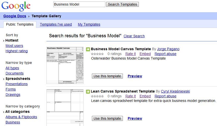 How to create Business Model Canvas with Ms Word or Google Docs ...