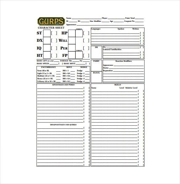 9+ Sample Character Sheet Templates - Free Sample, Example, Format ...