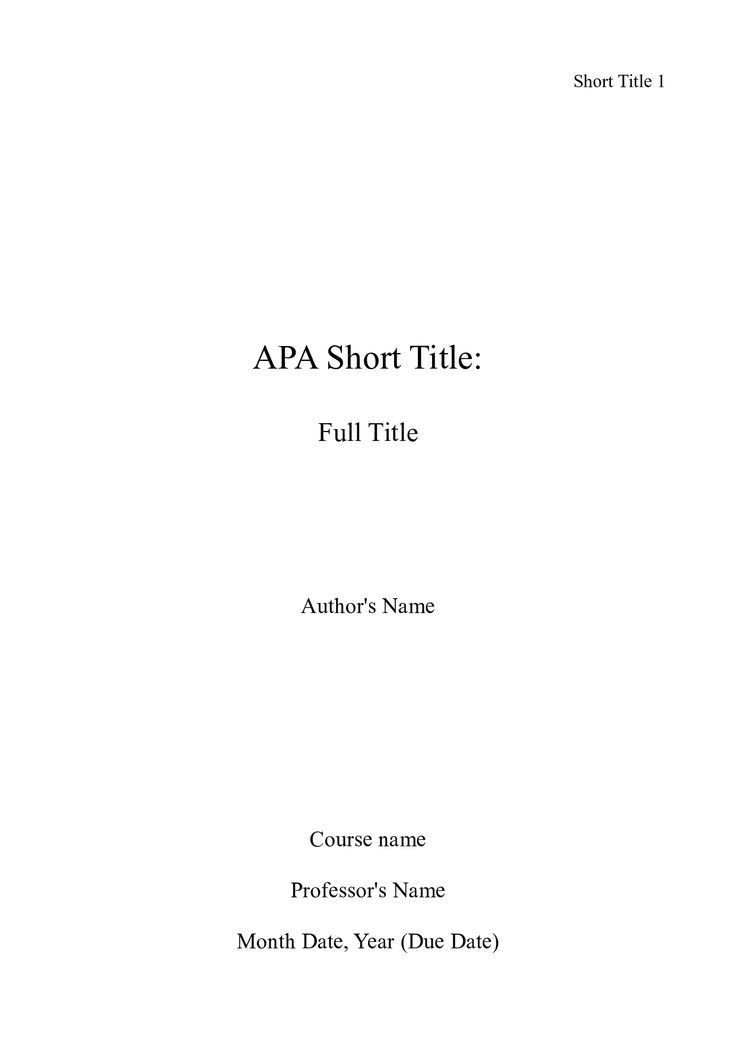 Best 20+ Apa title page example ideas on Pinterest | Title page ...